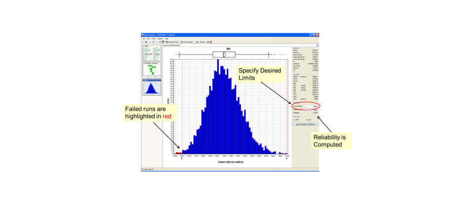 ModelCenter Explore Probabilistic analysis